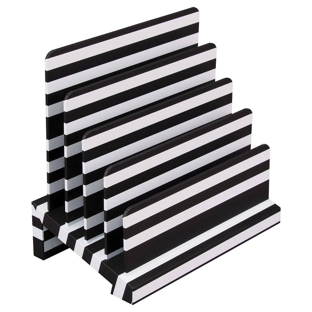 See Jane Work® Sorter, Black & White Stripe - see-jane-work