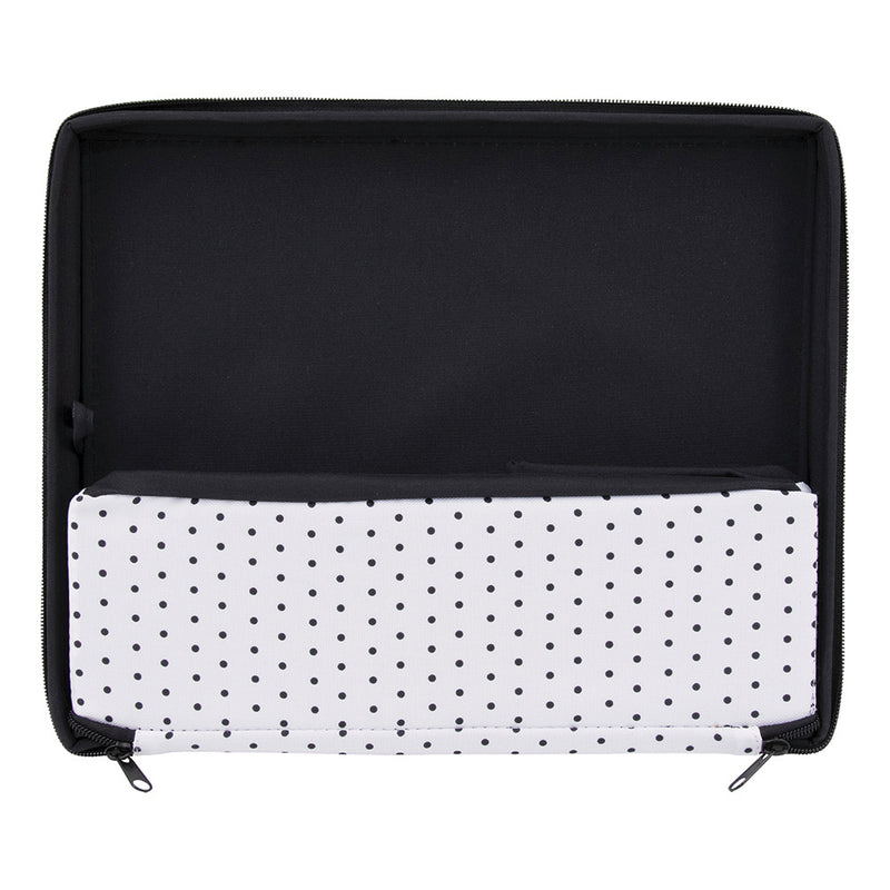 See Jane Work® Zipper Box, Black Dot - see-jane-work