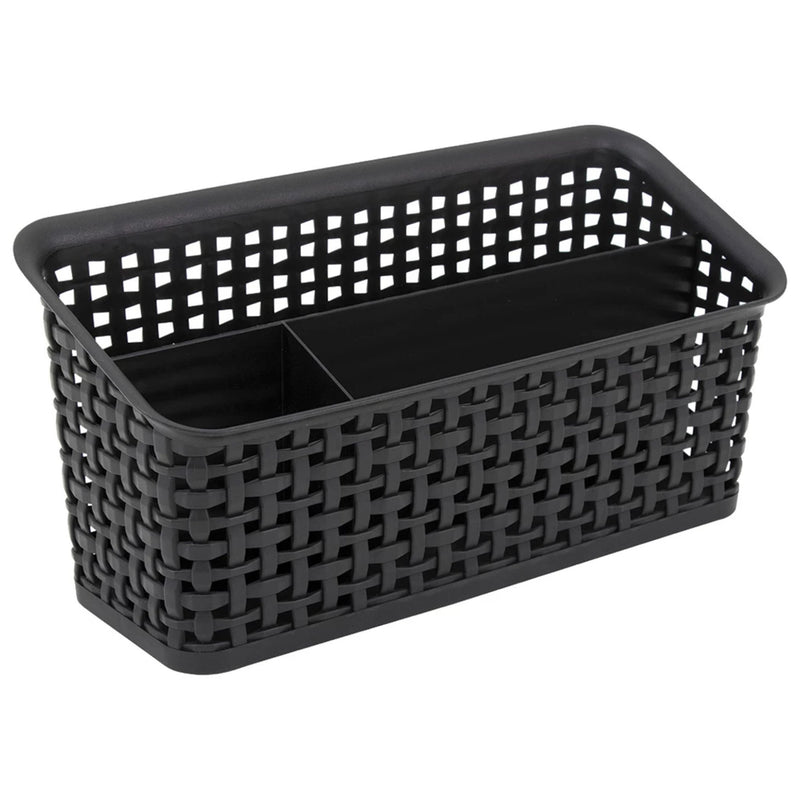 See Jane Work® Weave Bin Valet, Black - see-jane-work
