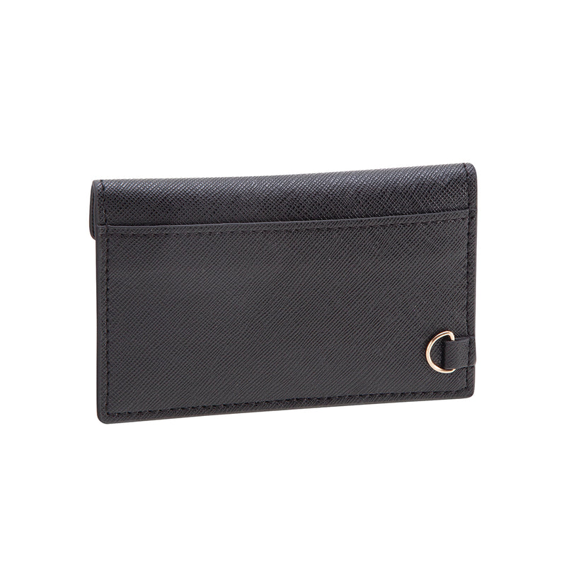 See Jane Work® Faux Leather Business Card Holder, Black - see-jane-work