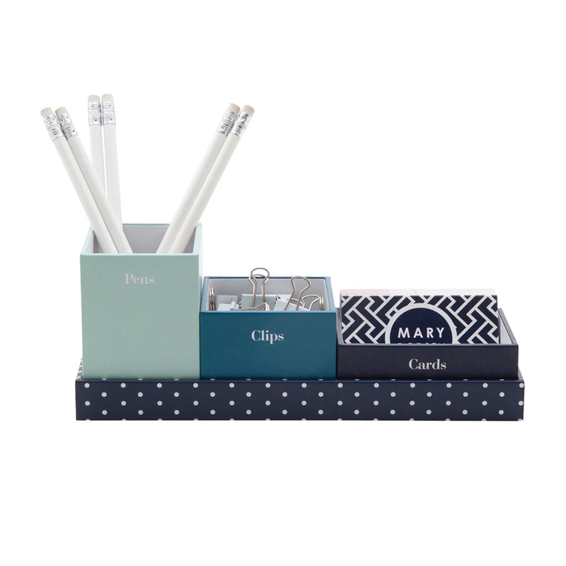 See Jane Work® 3 Cup Tray Set, Navy - see-jane-work