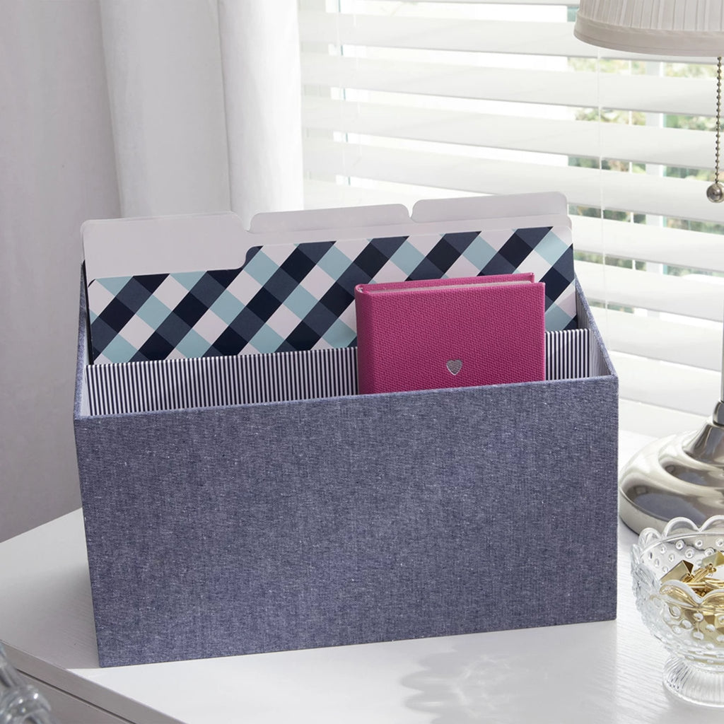 See Jane Work® Desk Valet, Chambray - see-jane-work