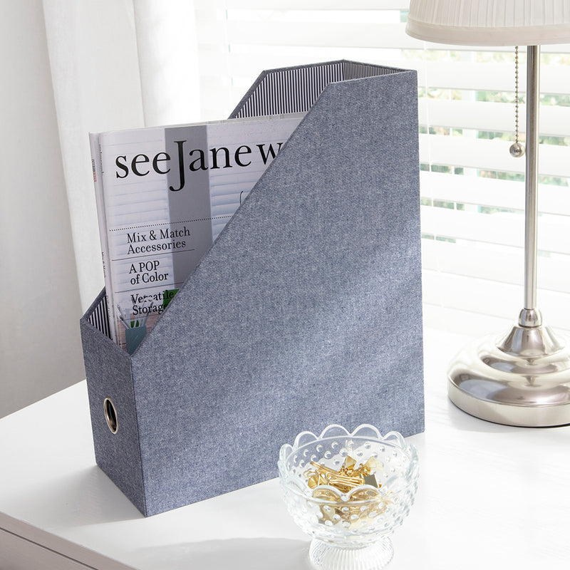 See Jane Work® Magazine File, Chambray - see-jane-work