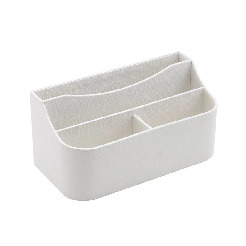See Jane Work® Desk Organizer, White Faux Leather - see-jane-work