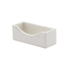 See Jane Work® Business Card Holder, White Faux Leather - see-jane-work