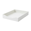 See Jane Work® Letter Tray, White Faux Leather