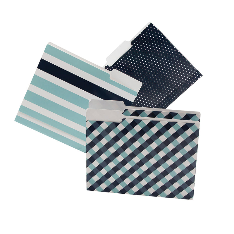 See Jane Work® File Folders, Navy - see-jane-work