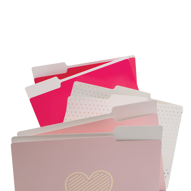 See Jane Work® File Folders, Pink - see-jane-work