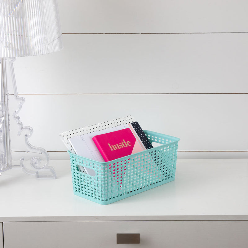 See Jane Work®  Narrow Weave Storage Bin, Blue