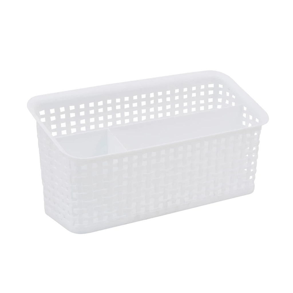 See Jane Work® Weave Bin Valet, White - see-jane-work
