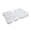 See Jane Work® 5 Pack Weave Bins, White