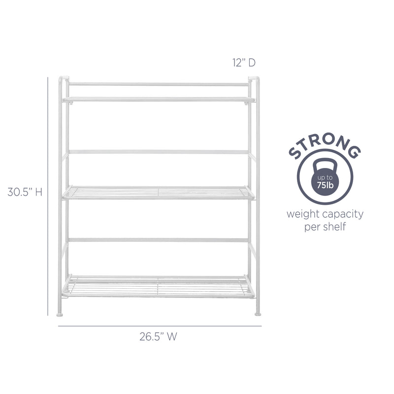 FlipShelf™ 3 Wide, White - see-jane-work