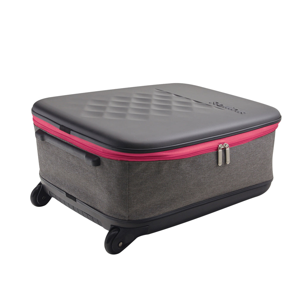 Thinkspace Collapsible Suitcase, Pink - see-jane-work
