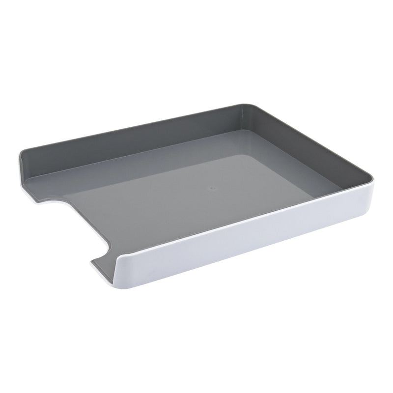 Fusion Letter Tray - White and Gray - see-jane-work