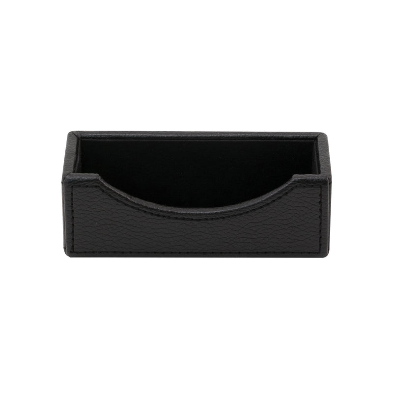See Jane Work® Business Card Holder, Black Faux Leather - see-jane-work