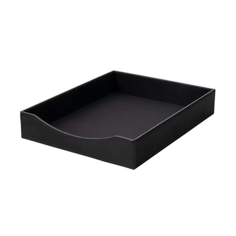 See Jane Work® Paper Tray, Black Faux Leather
