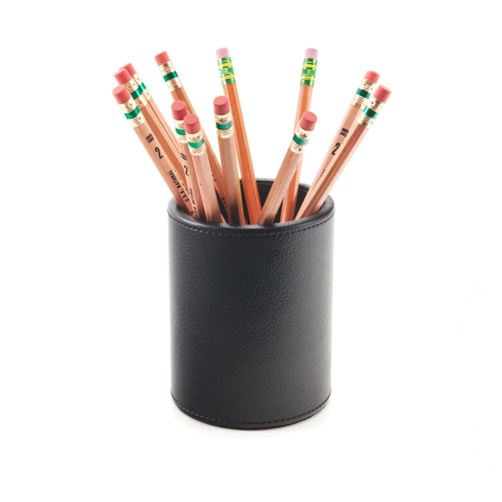 See Jane Work® Pencil Cup, Black Faux Leather - see-jane-work