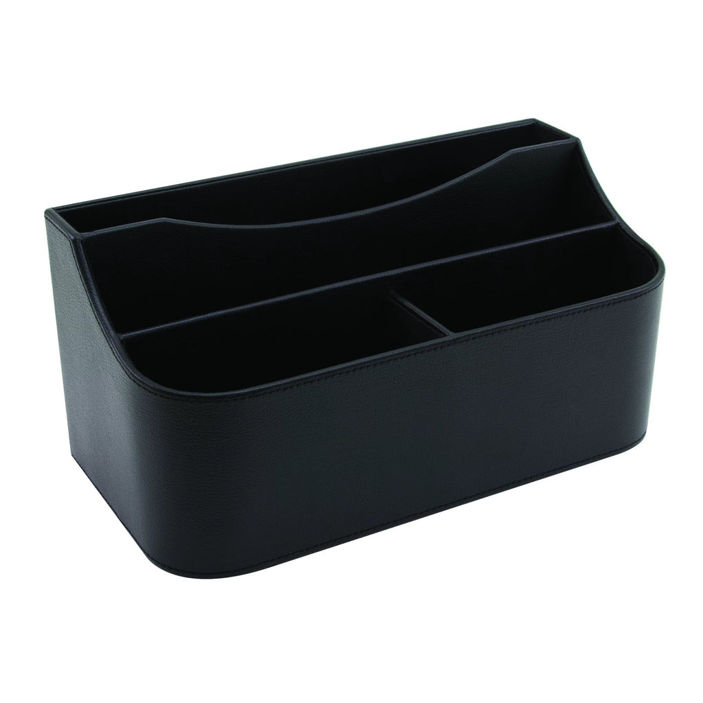 See Jane Work® Desk Valet, Black Faux Leather - see-jane-work