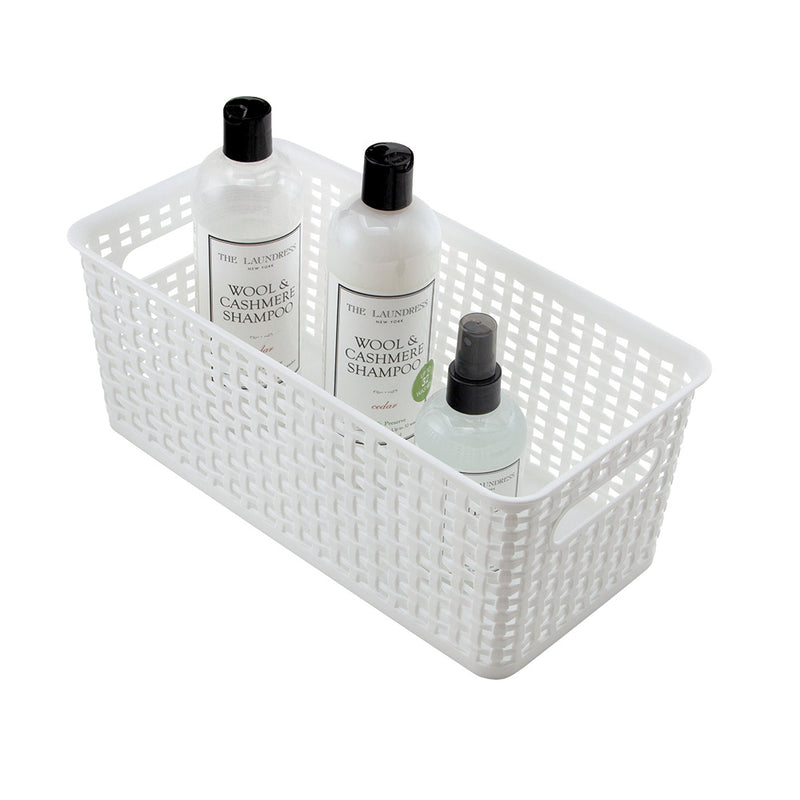 See Jane Work® Narrow Weave Storage Bin, White