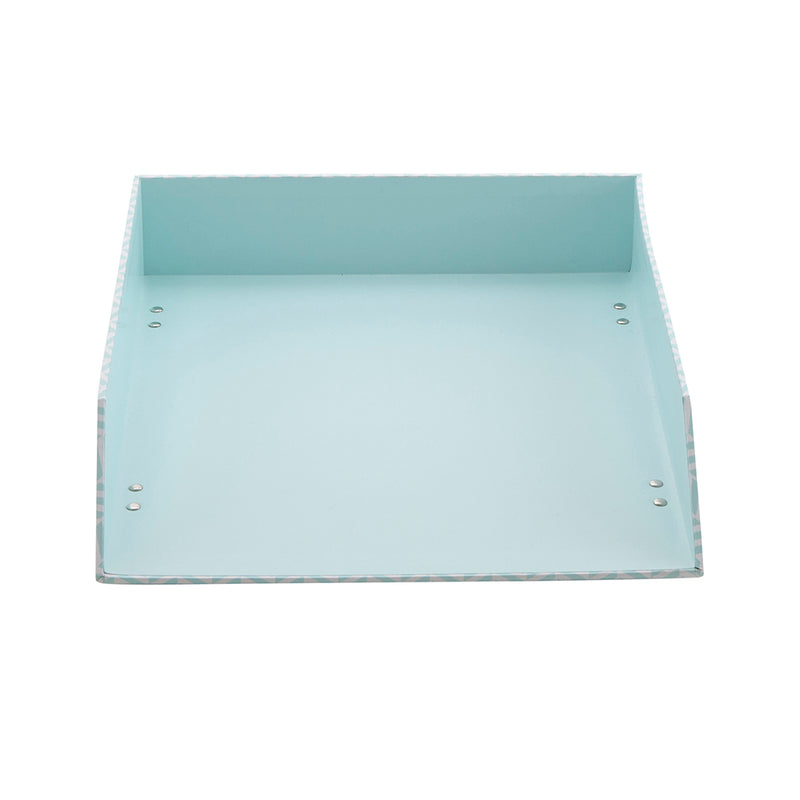 See Jane Work® Letter Tray, Blue Tile