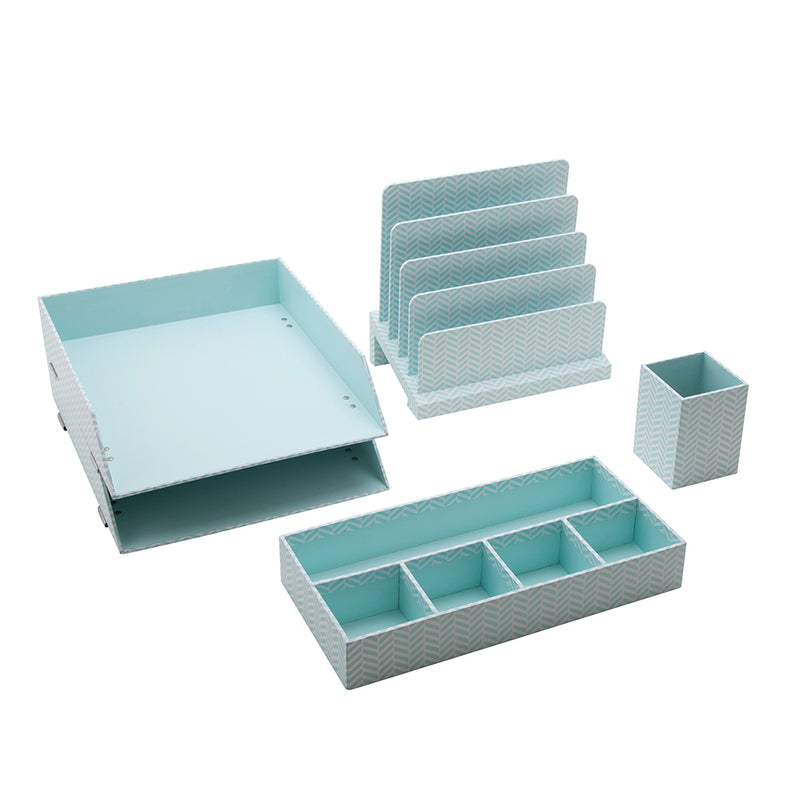 See Jane Work® Large Sorter, Blue Tile