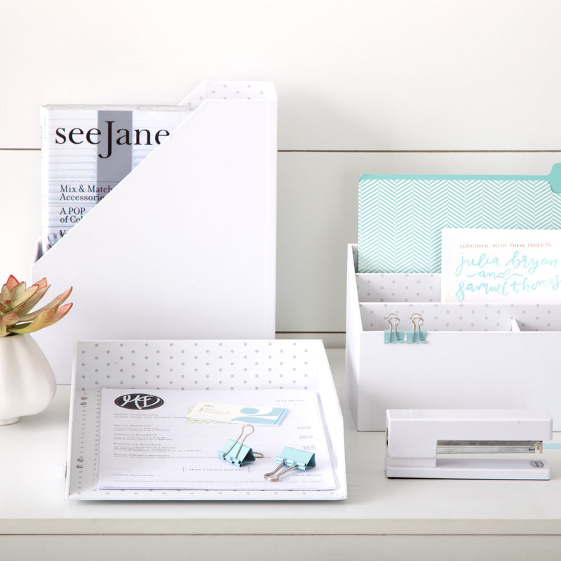 See Jane Work® Magazine File, White - see-jane-work