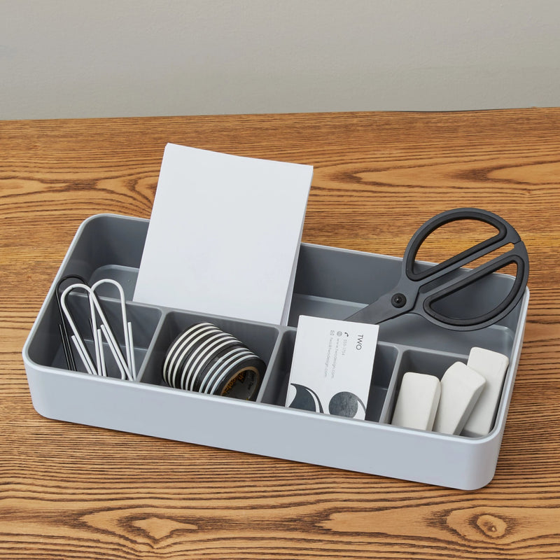 Fusion Desk Tray - White and Gray - see-jane-work