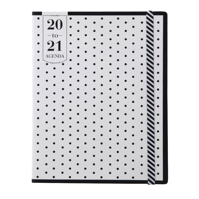 See Jane Work® Black Dot Weekly/Monthly Agenda, Large