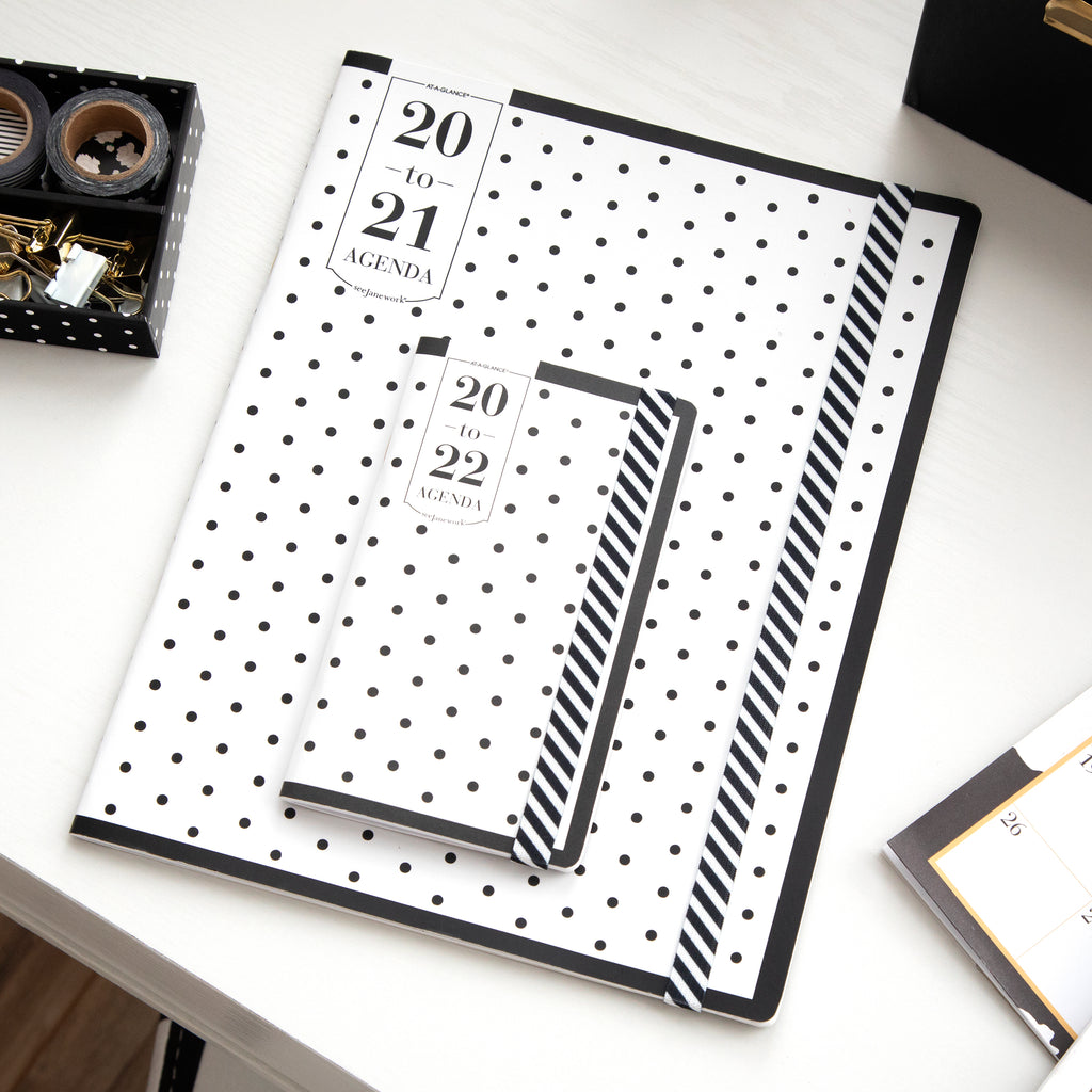 See Jane Work® Black Dot Weekly/Monthly Agenda, Small