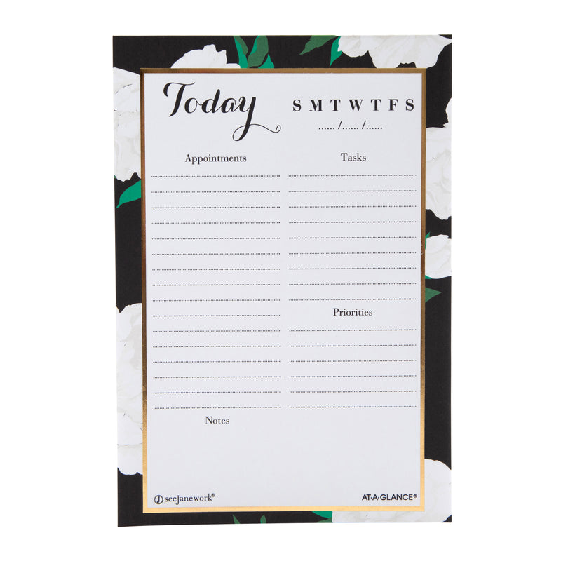 See Jane Work® Floral Daily Desk Notepad
