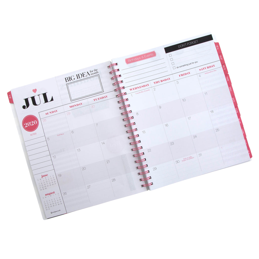 See Jane Work® Dreamer, Planner, Go Getter Weekly/Monthly Planner, Large