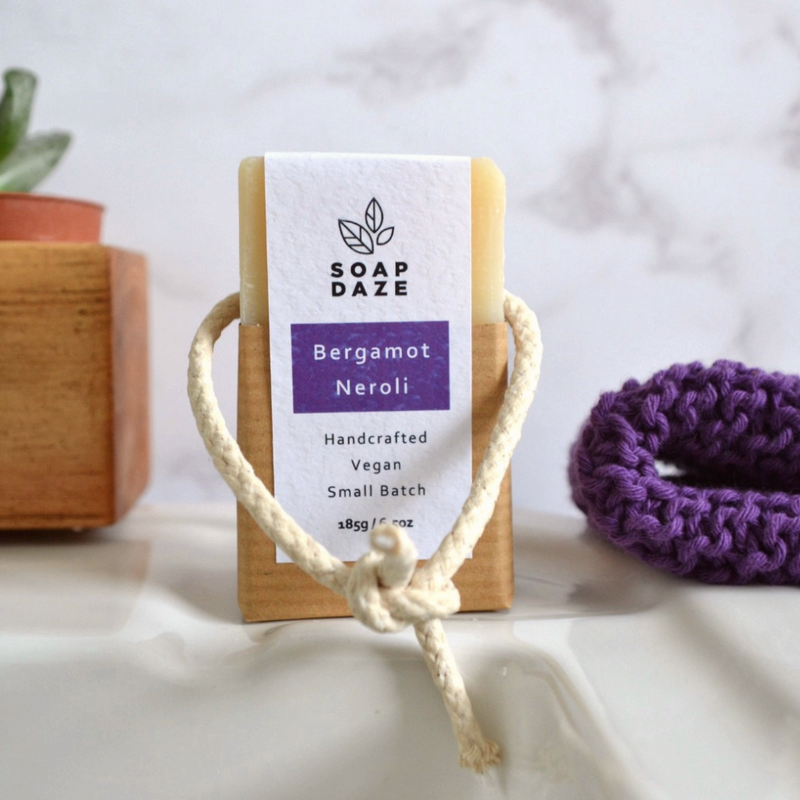 handmade natural vegan soap on a rope gifts for men