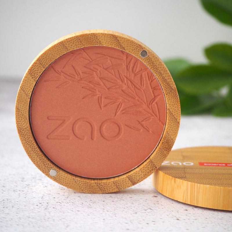 Zao makeup blush in golden coral
