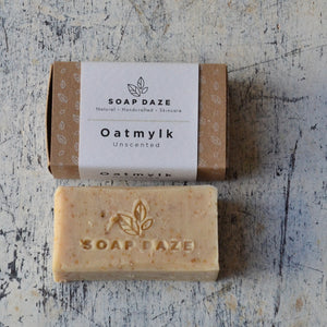 Natural deodorant and vegan soap zero waste gift set unscented oatmylk