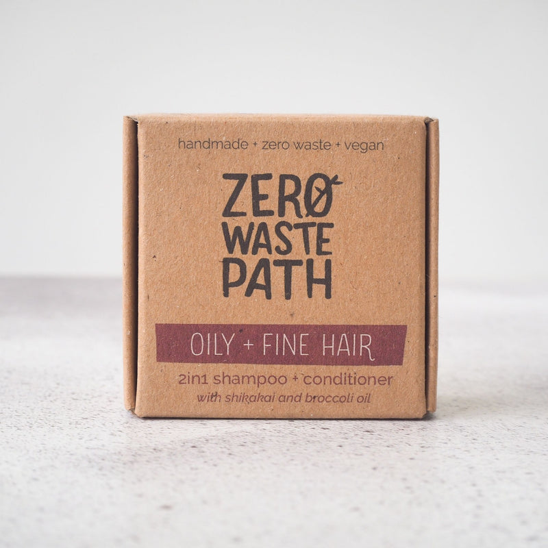 2in1 Solid Shampoo Bar - Oily + Fine Hair