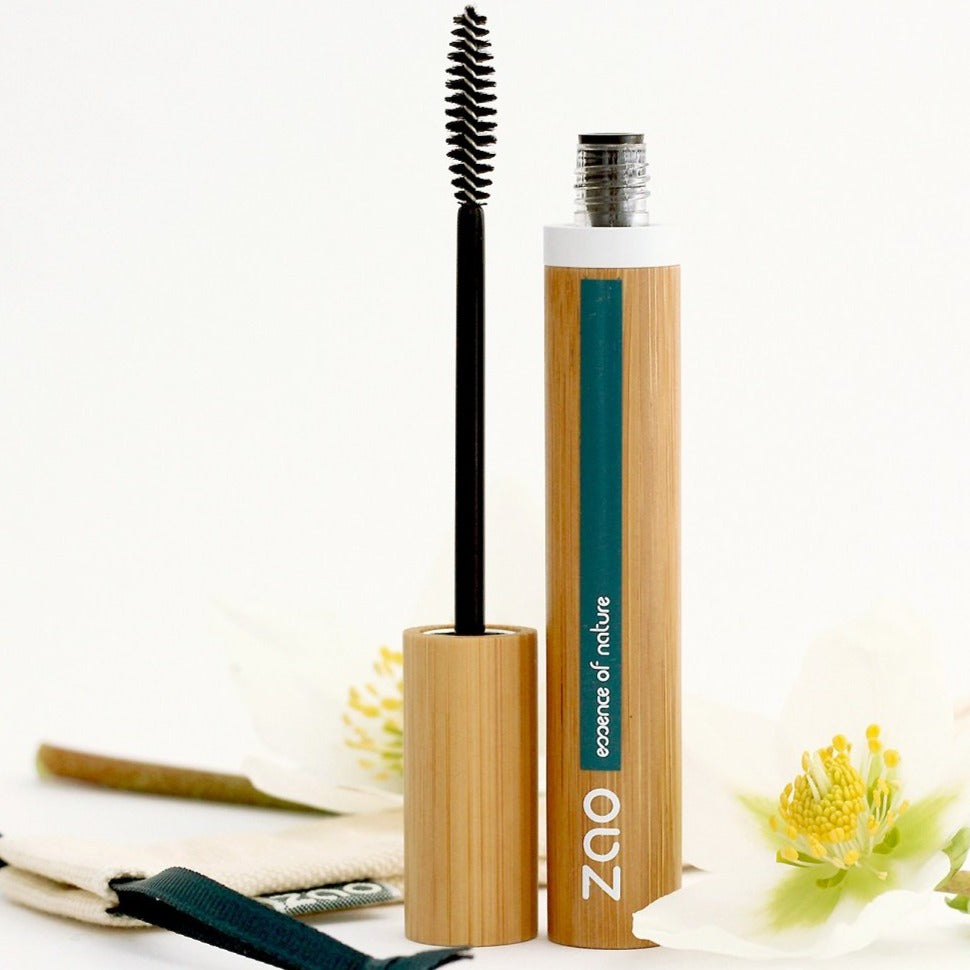 Zao Makeup - Dark Brown Volume and Sheathing Refillable Mascara 086