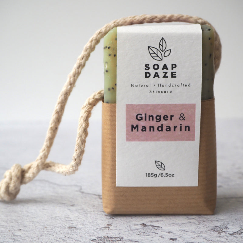 Ginger and Mandarin Soap on a Rope