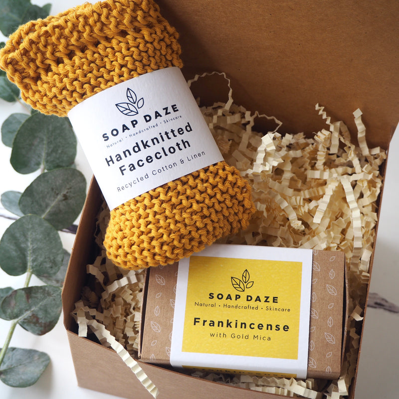 Frankincense Soap and Facecloth Gift Box