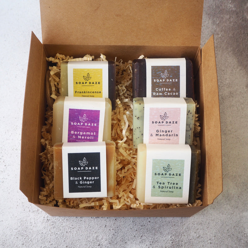 Mini soap gift set, Nourish range.