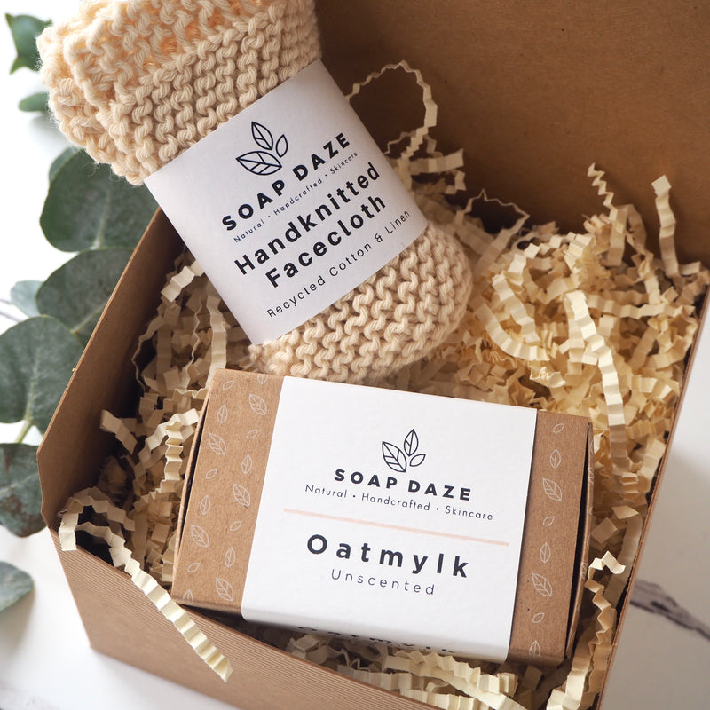 Oatmylk Soap and Facecloth Gift Box