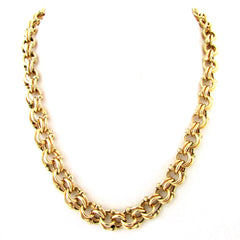 14k Gold Necklace w/ Woven Tube Design