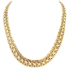 14k Gold Necklace w/ Woven X Design