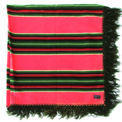 1950s Pendleton Dance Shawl Hot Pink Serape Stripes