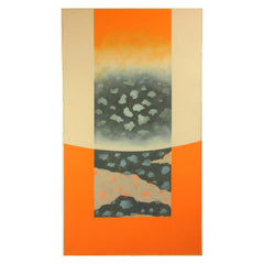 Large-Scale Abstract Skyscape Painting Orange & Beige