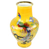 Yellow Noritake Hand-Painted Peacock Vase