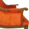 Regency-Style Orange Velvet Upholstered Armchair