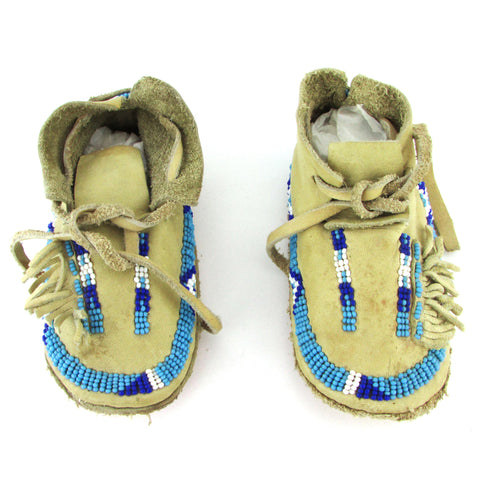 American Indian Child's Beaded Moccasins