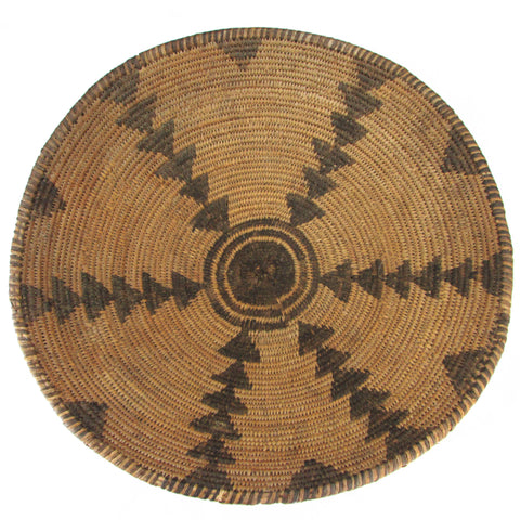 Antique Apache Basket Bowl w/ Arrow Pattern
