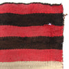 Antique Navajo Rug Salmon Striped First Phase Child's Chief Blanket