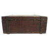 Antique Wood Stagecoach Safe Box w/ Wrought Iron Handles